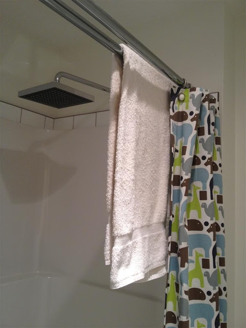 Double shower curtain the best thing for a kid 39 s bathroom for Shower curtain savers