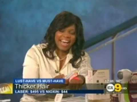 Candance Cory from KCAL 9 News in Los Angeles reviews the HairMax LaserComb as a FDA Cleared Hair Loss Treatment option.  Learn More at www.hairmax.com 1.800.9REGROW