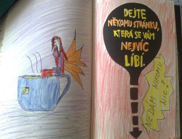 Nikomu nic nedám! A raději si nakreslím čajovou vílu.