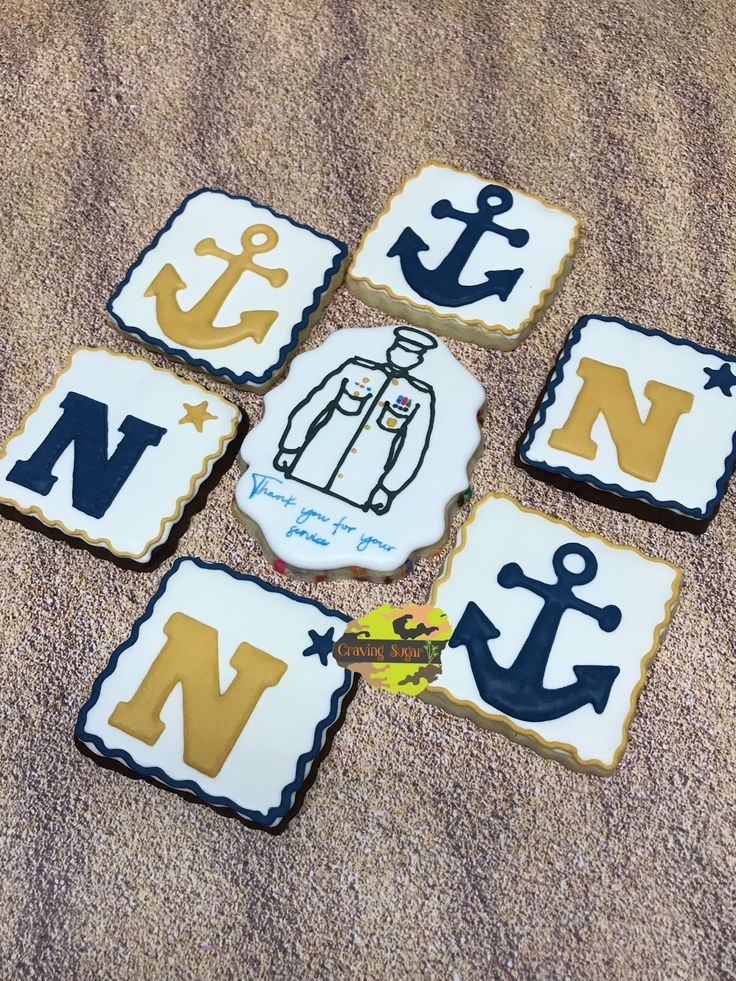 U.S. Navy retirement cookies Retirement cakes, Cakes for