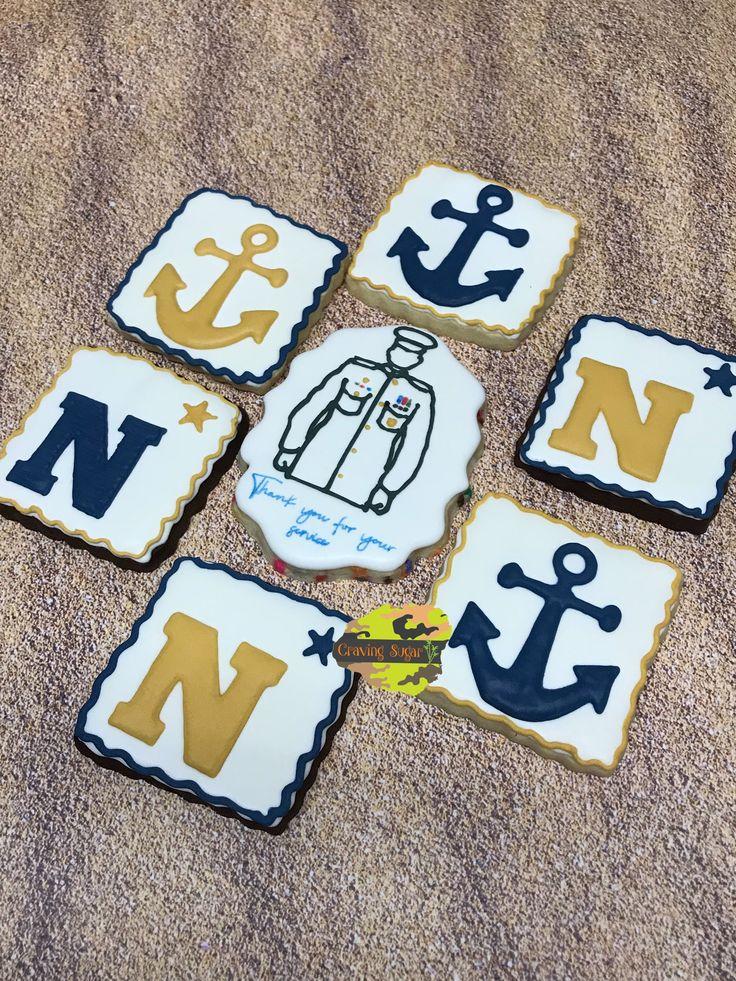 U.S. Navy retirement cookies Retirement cakes, Cakes for