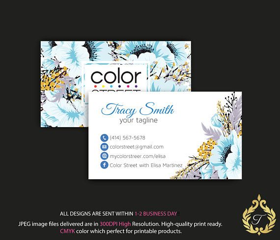 34 best color street business card images on pinterest business color street business card personalized color street business reheart Image collections