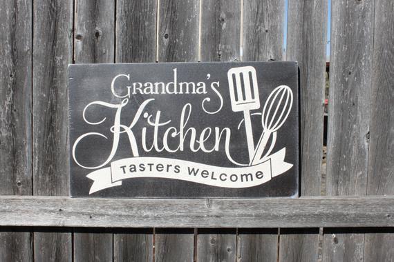 Grandma S Kitchen Sign For Grandma Home Decor Gift For Grandma Mother S Day Kitchen Sign Kitch Handmade Gifts For Grandma Funky Home Decor Kitchen Signs