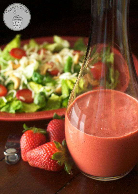 Strawberry Balsamic Vinaigrette Dressing - This creamy salad dressing ...