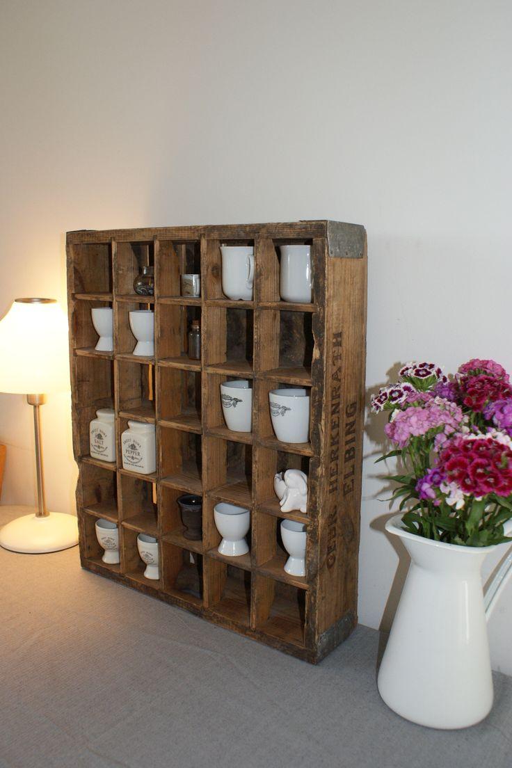 old drink crate case shelf