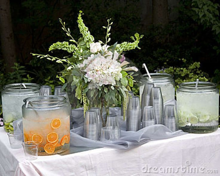 Beverage station idea for weddings and parties party for Centerpiece ideas for wedding receptions on a budget