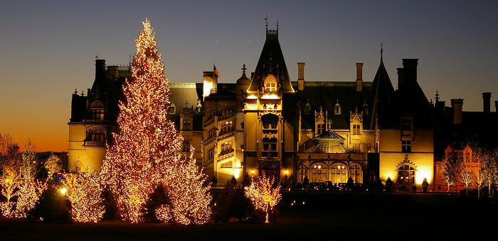 The Biltmore House at Christmas in Asheville, NC. My grandma and I want to go so much!