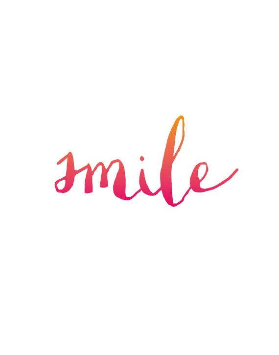 Wall Decor Inspirational Art Smile by TheMotivatedType on Etsy