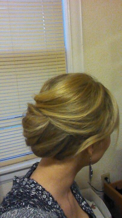 Simple updo mom wedding hair
