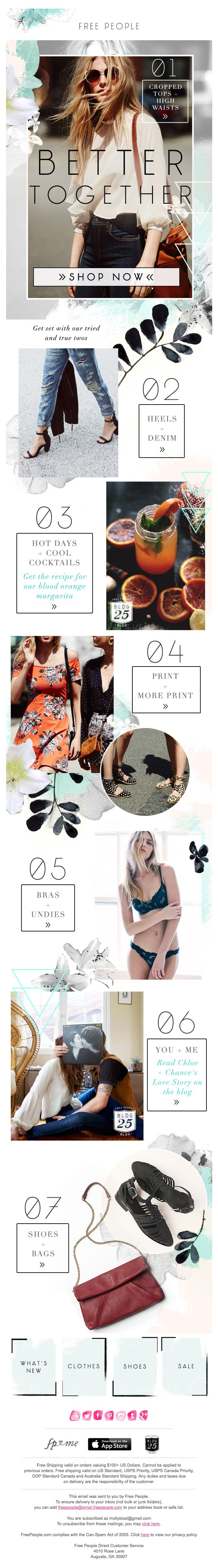 #freepeople #email #design