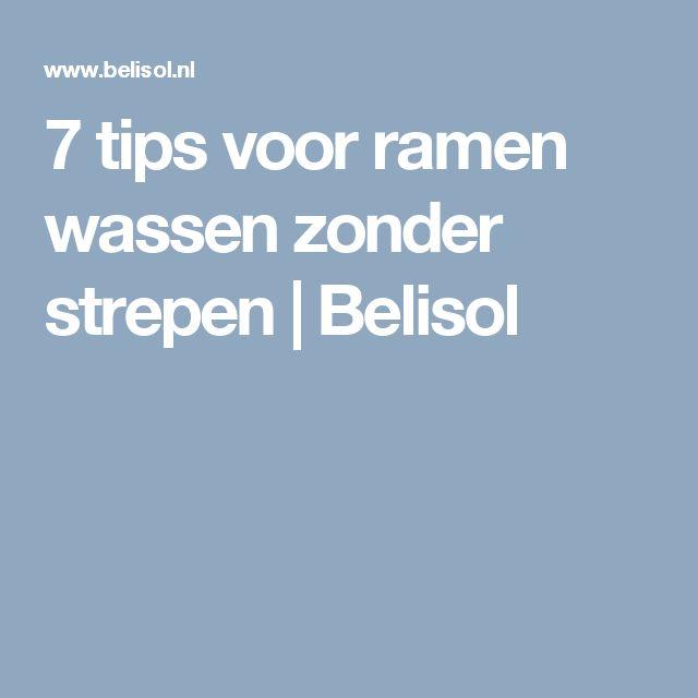 7 tips voor ramen wassen zonder strepen | Belisol