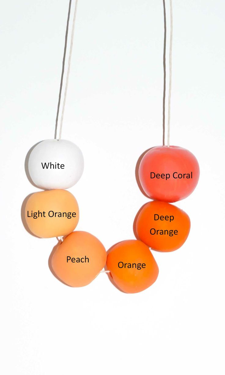 Orange Beads for Necklace