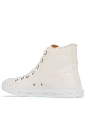Chloé - Kyle Leather High-top Sneakers - White - IT36