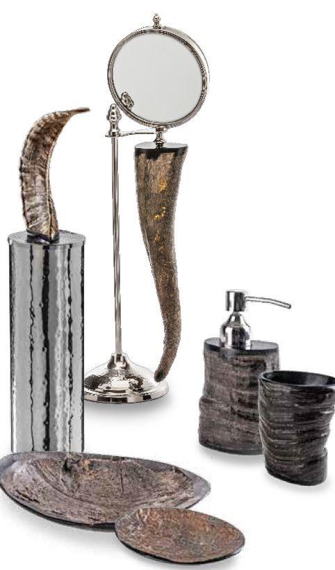 #Cipì #Agra Schüssel in echtes Horn CP301/45 | #Metall | im Angebot auf #bad39.de 53 Euro/Stk. | #Italien #Nostalgie #Bad #Accessoires #Badezimmer #Einrichtung #Ideen #Gadgets