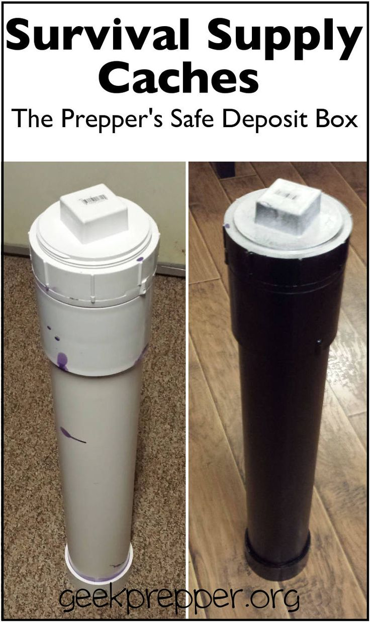 Pvc Burial Vault : Survival supply caches