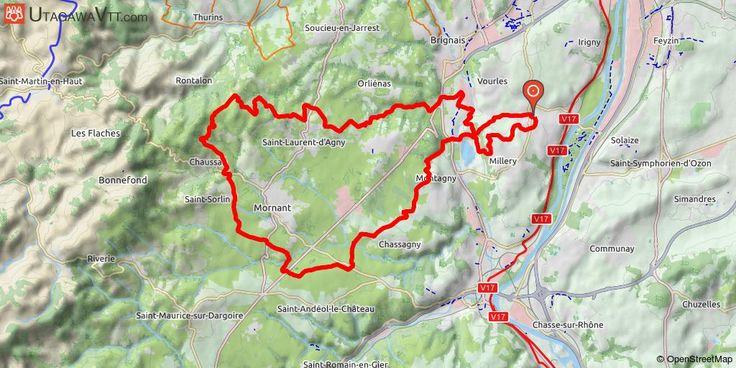 [Rhône] Rallye des Vergers 2017 - 45 km Itinéraire attrayant aussi bien par la vue que par la diversité des chemins. Quelques portions routières pour faire des jonctions entre les divers chemins (de tout type: pistes larges, singles, route malheureusement). Petit single de descente bien sympa sur le retour.