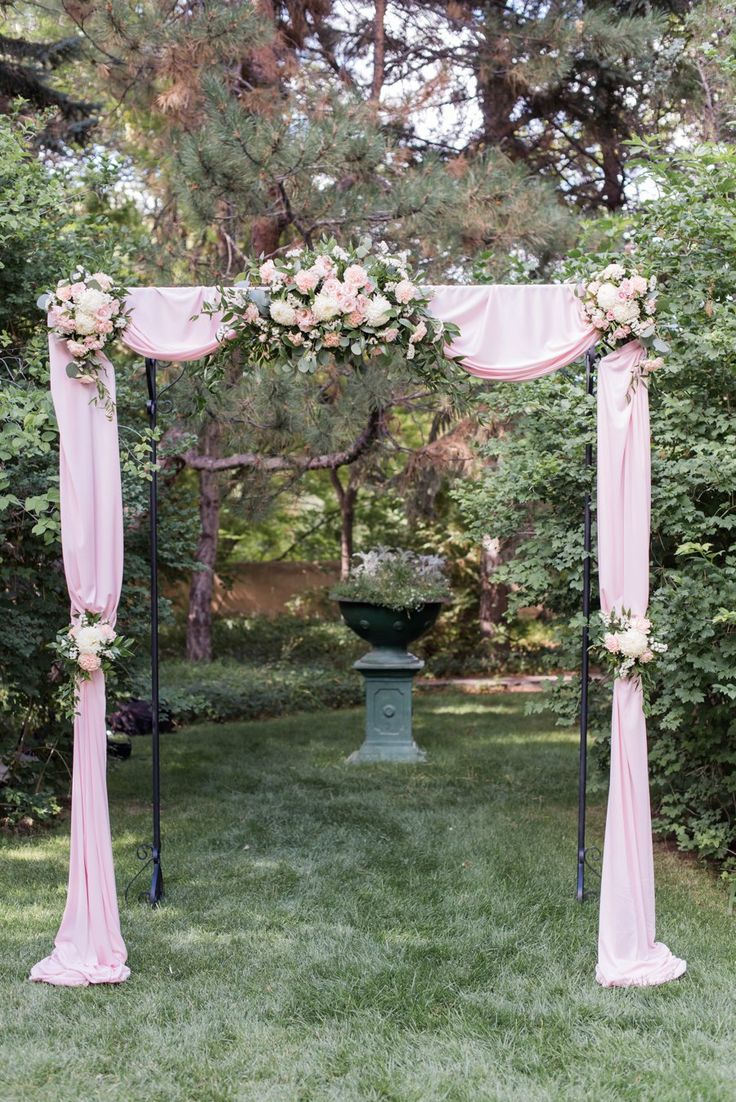 A Romantic Pink & White New Mexico Wedding