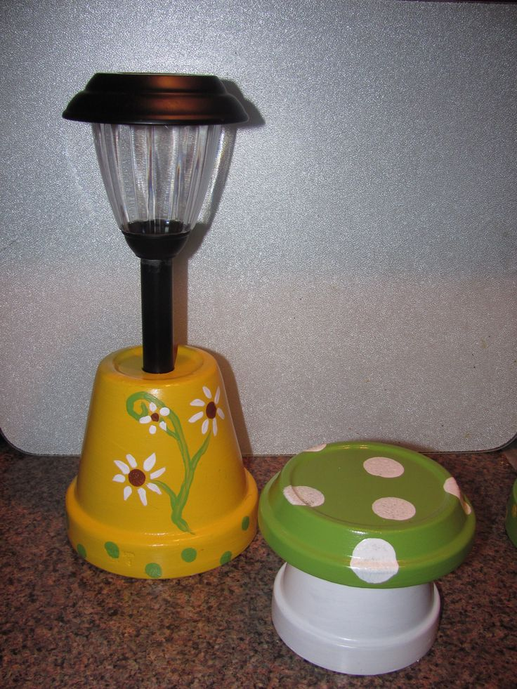 yellow solar landscaping light made by angela