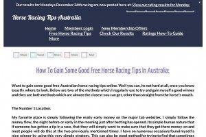 Saturday horse racing tips australia