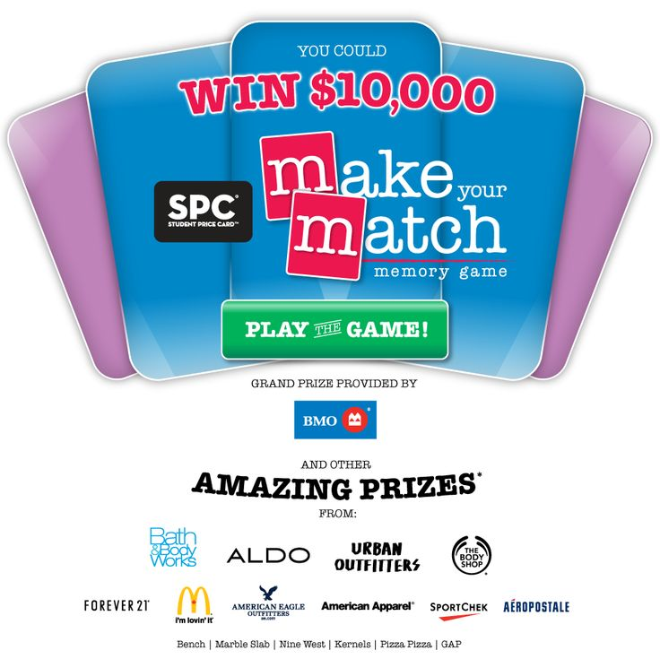 SPC is giving you a chance to win $10,000 and amazing daily prizes! Just go to SPCmatch.ca and register to play. #SPCMATCH