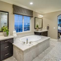 Relax in luxury with the master bath suite in the Cardinal plan at Phoenix Crest - new homes by Benchmark Communities in Rancho Cucamonga