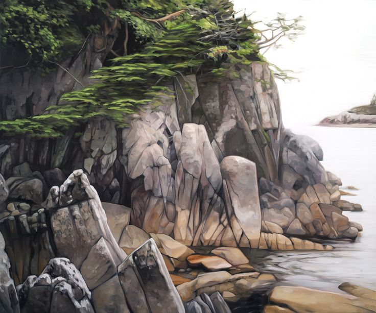 """Cove"". Oil on Birch. 2016. 20""x24"". Collin Elder. www.collinelder.com"