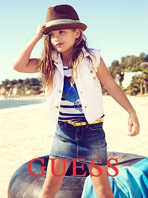 Anna Nicole Smith has been immortalized by her iconic GUESS ads, and now her daughter, Dannielynn Birkhead, is stepping into mom's shoes by modeling for the latest GUESS Kids print campaign
