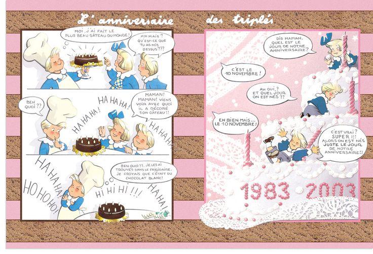 Les Triplés by Nicole Lambert.. - for more inspiration visit http://pinterest.com/franpestel/boards/