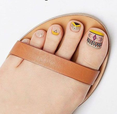 27 adorable easy toe nail designs 2020  simple toenail
