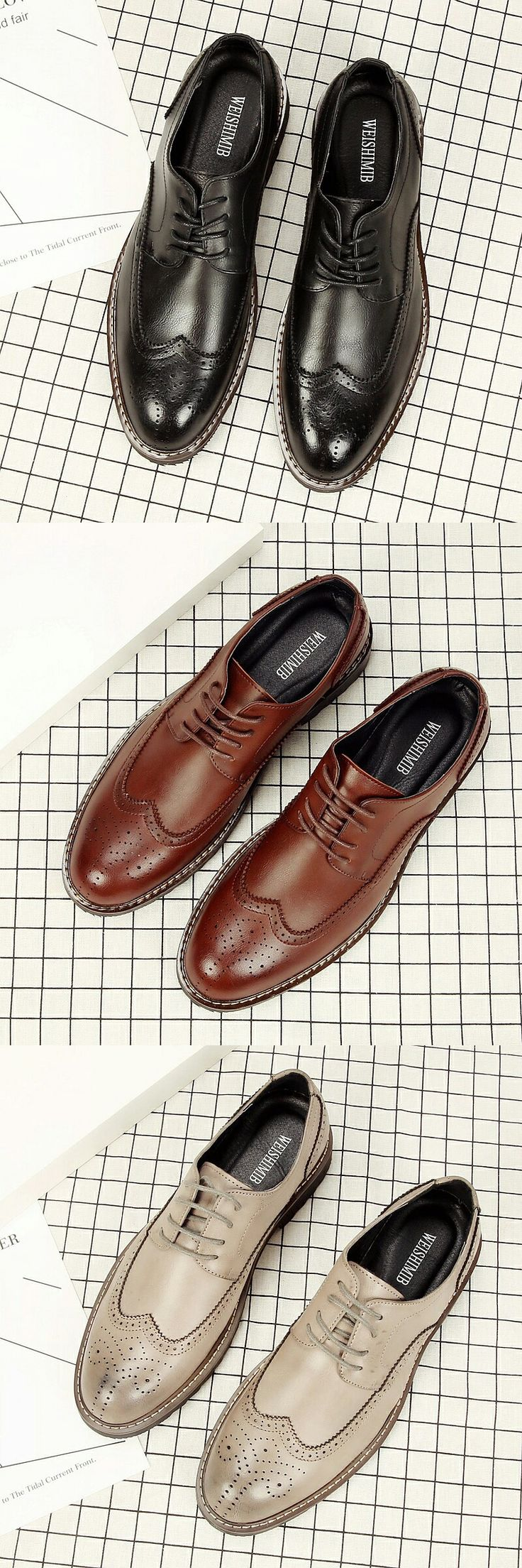 $26.98 <Click to buy> High Quality Oxford Shoe Bullock Men Brogue
