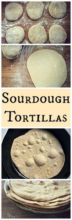 How to Make Sourdough Tortillas~ Easy, healthy and homemade! www.growforagecookferment.com