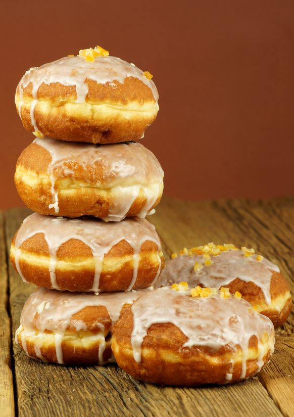 Fat Thursday - National Donut Feast.  Downy, light and crispy with rose marmalade. Today we celebrate Fat Thursday – a day when people in Poland eat tons of special Polish donuts – pączki.