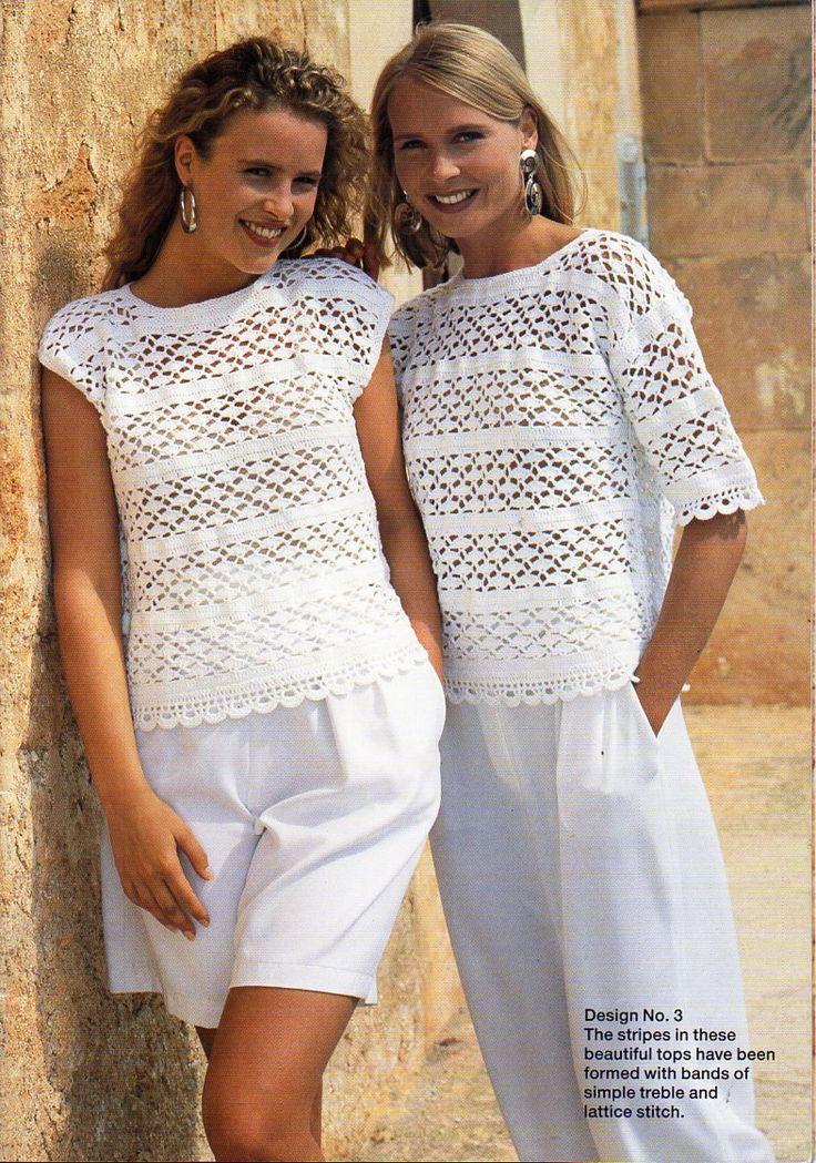 Womens crochet tops crochet pattern crocheted sweater blouse lacy crochet 28-42″ cotton 4 ply fingering womens crochet pattern pdf download