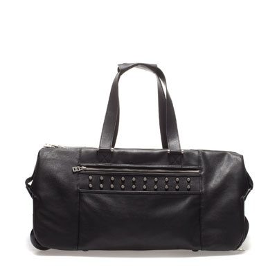 Studded black leather bag hobo | ebay