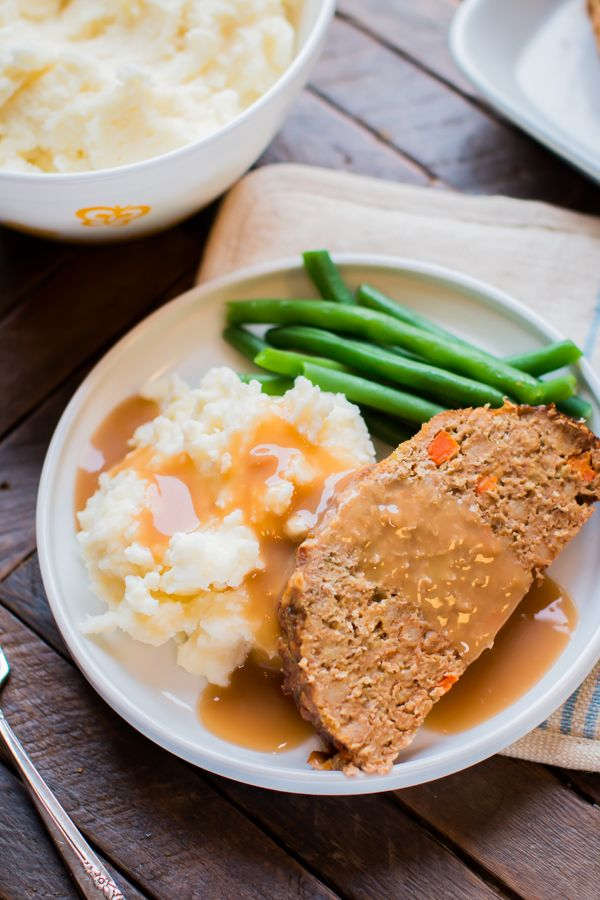 Slow Cooker Stove-Top Stuffing Turkey Meatloaf