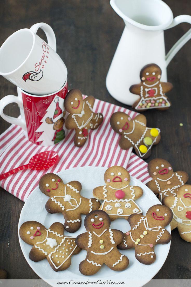 Receta de galletas de navidad de jengribe. con fotografías paso a paso y consjeos de elaboración.