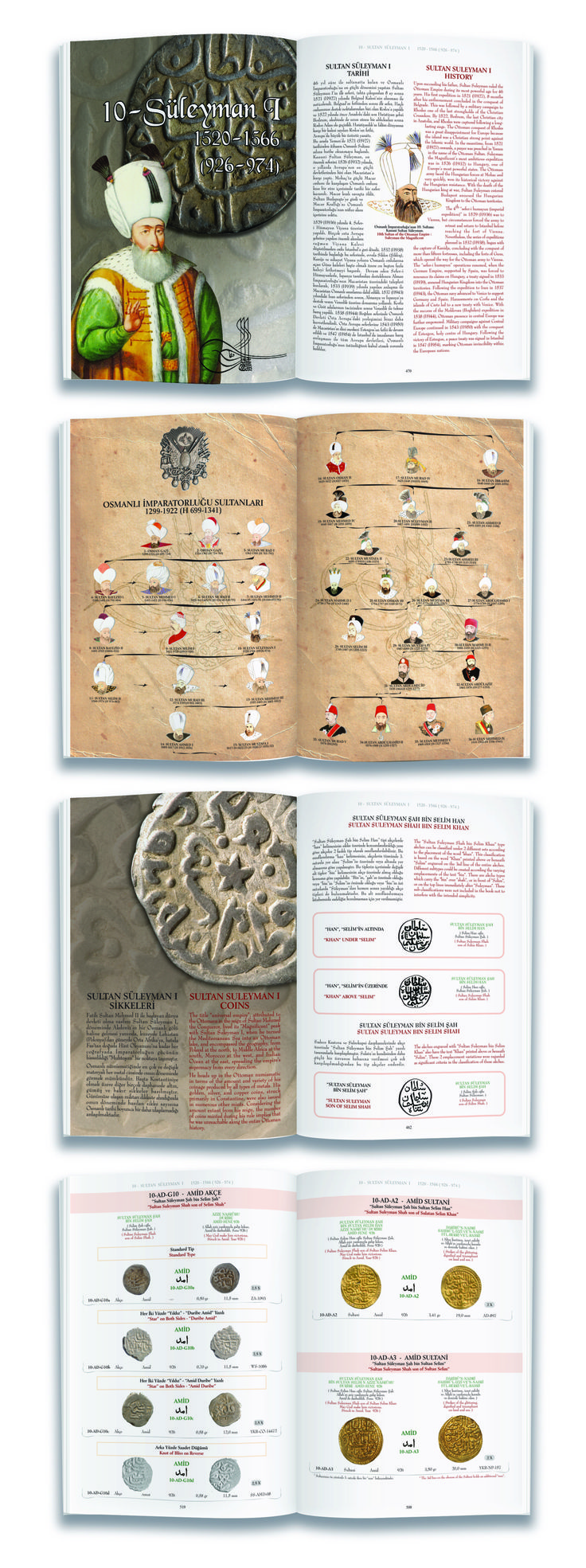 Ottoman Coins - Collection book design