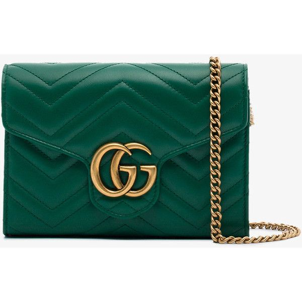 Gucci small green GG Marmont matelassé shoulder bag (833.080 CLP) ❤ liked on Polyvore featuring bags, handbags, shoulder bags, tote handbags, tote bag purse, shoulder handbags, green purses and green shoulder bag