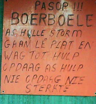 Passop Boerboele Beware Boerboel (dog) If they attack lie flat and wait for help. If help does'nt arrive Good LUCK (strength)blog.getaway.co.za