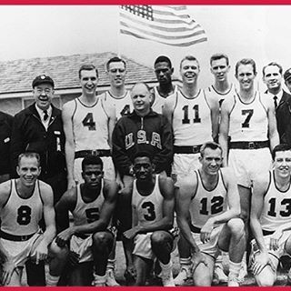60 years ago today the U.S. men behind the play of future Naismith Basketball Hall of Famers Bill Russell, K.C. Jones and other college standouts defeated the Soviet Union 89-55 to claim the 1956 Melbourne Olympics gold medal! #GoldHabits