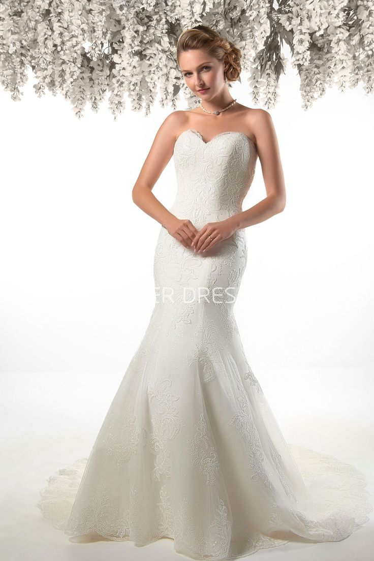 Strapless and backless wedding dress   best Wedding shop images on Pinterest  Short wedding gowns