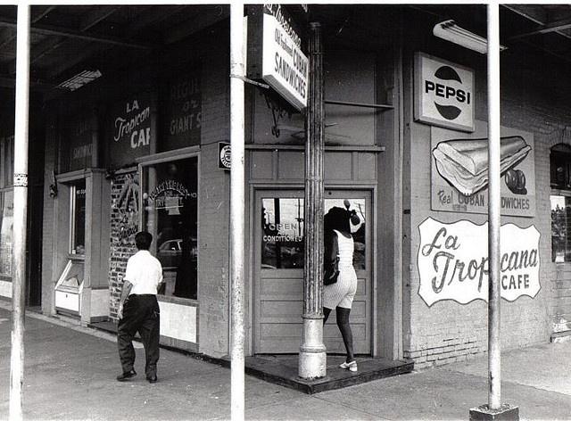 La Tropicana Cafe in Ybor City, Tampa; 1973