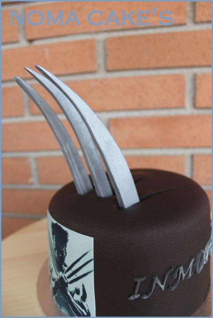 wolverine cake   Sergio quería regalarle una tarta a su amigo Edgar y me dijo que le ...