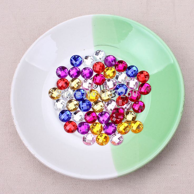 100pcs/lot 8mm red blue white colorful Sew On Stone Flatback Crystal Clear Color Sewing On Crystal Rhinestones 2 Holes For Dress