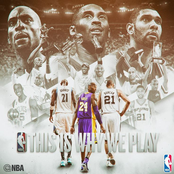 For honoring the LEGENDS! #ThisIsWhyWePlay  Farewell, Kevin Garnett Kobe Bryant and Tim Duncan