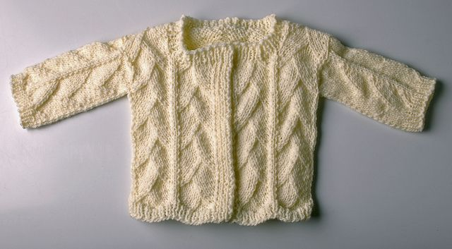 Free Knitting Patterns For Worsted Weight Yarn : The Dragon Skin Baby Sweater is easy to knit using worsted-weight yarn. Grab ...