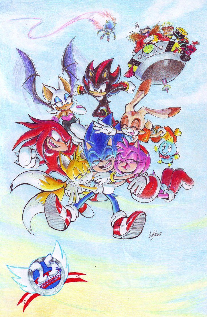 Sonic 25th Anniversary: colored by Auroblaze on DeviantArt