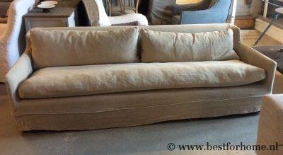 Sobere Linnen Bank Bella Puur Landelijke Sofa | BFH0062
