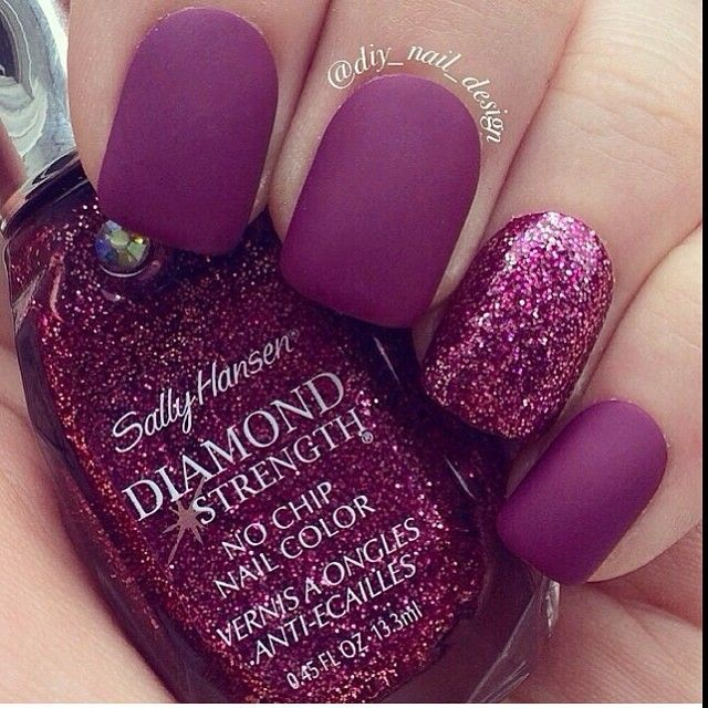 ❤ I like the matte and one sparkly!