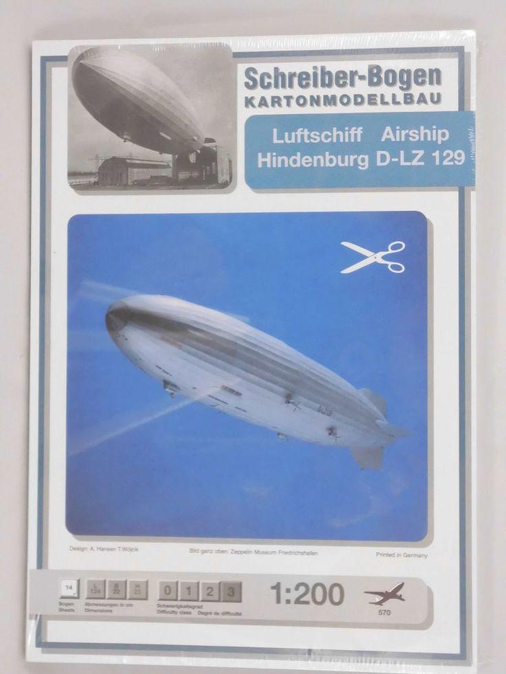 Luftschiff Hindenburg D-LZ 129 Maßstab1:200 Luftfahrt  Karton Papier Modellbau